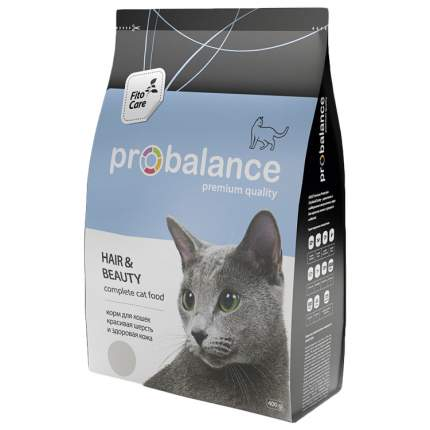 Сухой корм для кошек Probalance Hair&Beauty, красота шерсти и кожи, 400 г