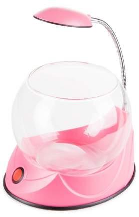 Аквариум Hailea круглый розовый 1,8 л