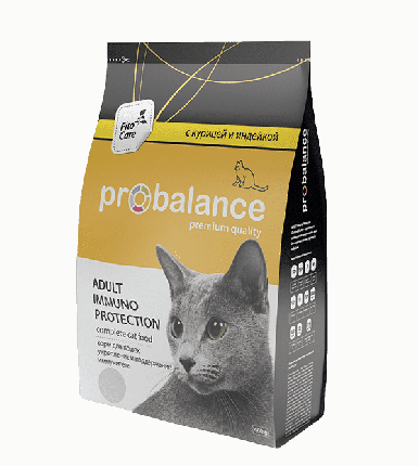 Сухой корм для кошек Probalance Immuno Protection, с курицей и индейкой, 400 г