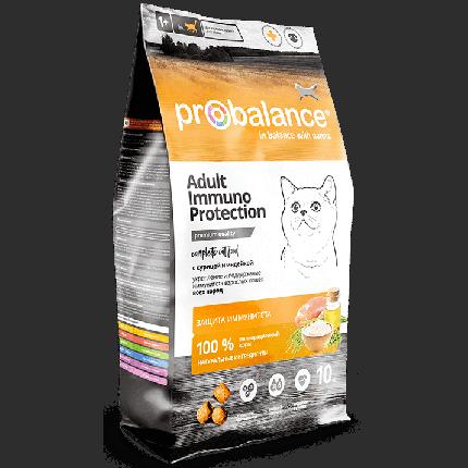 Сухой корм для кошек Probalance Immuno Protection, защита иммунитета, с лососем, 10 кг
