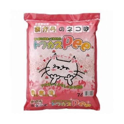Комкующийся наполнитель для кошек Japan Premium Pet соевый, персик, 4.3 кг, 7 л