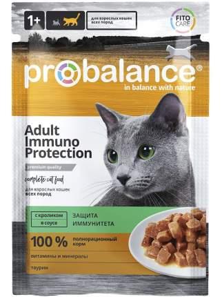 Влажный корм для кошек ProBalance Immuno Protection, с кроликом в соусе, 85г