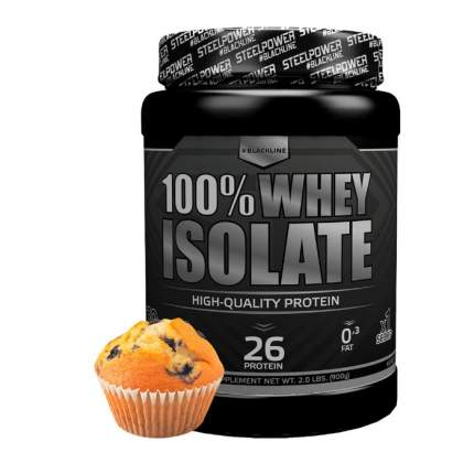 Протеин Steel Power Nutrition 100% Whey Isolate 900 г черничный маффин