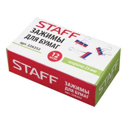Зажимы для бумаг STAFF 226252 12 шт