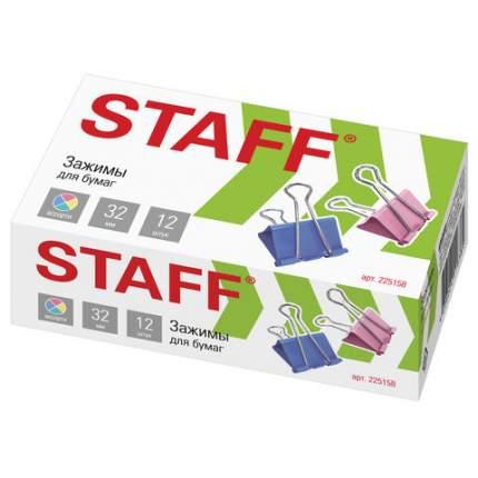 Зажимы для бумаг STAFF 225158 12 шт