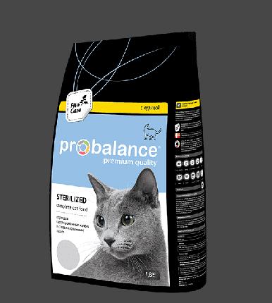 Сухой корм для стерилизованных кошек и кастрированных котов Probalance Sterilized, 1,8 кг