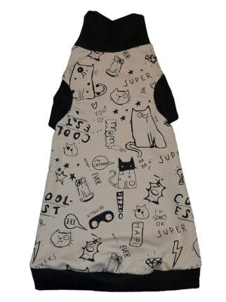 Водолазка для кошек OSSO Fashion Веселые коты XL