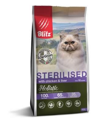 Сухой корм для кошек BLITZ CHICKEN & LIVER FOR STERILISED курица и печень, 0,4 кг