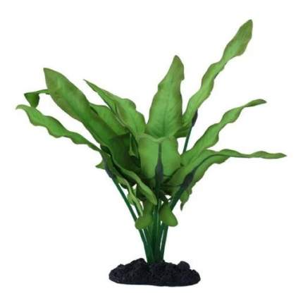 Искусственное растение для аквариума Prime Анубиас Хастифолия 30 см, пластик, шелк