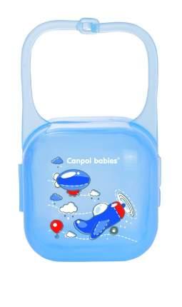 """Контейнер для пустышки Canpol """"Machines"""" арт. 2/931 цвет синий, рисунок самолетик"""