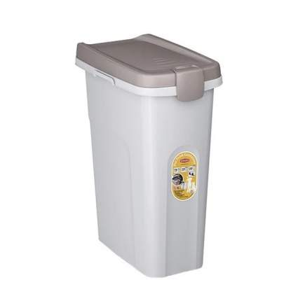 Контейнер для корма Stefanplast, белый, 10 кг/25 л, 39х24х51 см