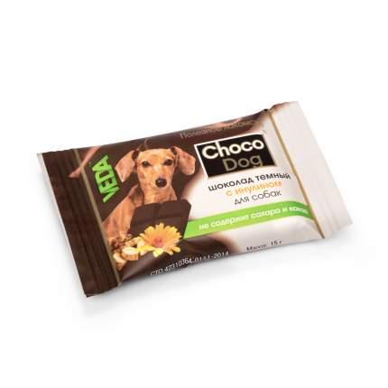 Лакомство для собак VEDA  CHOCO DOG, шоколад темный с инулином, 15г