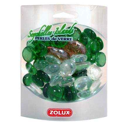 Декоративные камни для аквариума ZOLUX Сейшельские острова, стекло, 1х1х0,8 см, 430 г