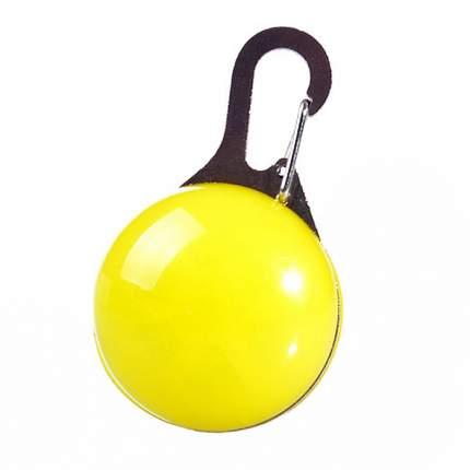 Блинкер-маячок на ошейник для кошек и собак Грызлик Ам светящийся желтый