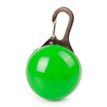 Блинкер-маячок на ошейник для кошек и собак Грызлик Ам светящийся зеленый