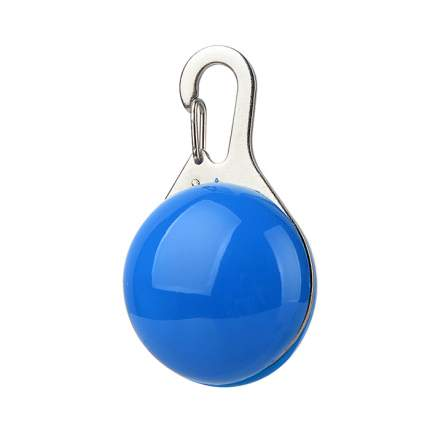 Блинкер-маячок на ошейник для кошек и собак Грызлик Ам светящийся синий