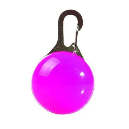 Блинкер-маячок на ошейник для кошек и собак Грызлик Ам светящийся фиолетовый