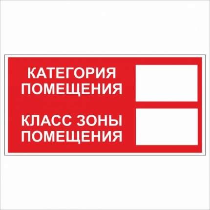Знак F26 Категория помещения / Класс зоны помещения 10х20