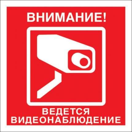 """Знак """"Внимание ведется видеонаблюдение"""" 20х20"""