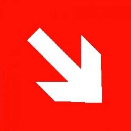 Знак F01-02 Направляющая стрелка под углом 45°