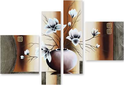 "Картина модульная на холсте Модулка ""Цветы в вазе"" 90x66 см"
