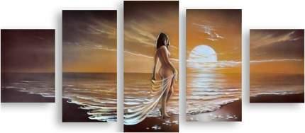 """Картина модульная на холсте Модулка """"Девушка у моря"""" 90x44 см"""