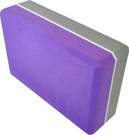 Кирпич для йоги из пены двухцветный (160 г, 7,5 см, 23 см, фиолетовый-серый, 15 см)