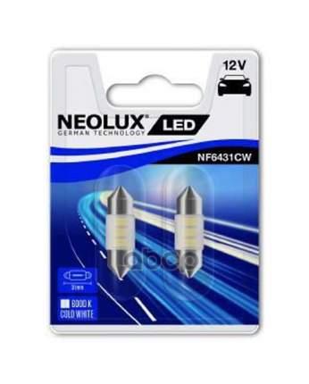 Лампа Светодиодная C5w 0.5w 12vsv8.5-8 Led 6000k/31mm (Блистер 2шт.) Neolux NF6431CW-02B