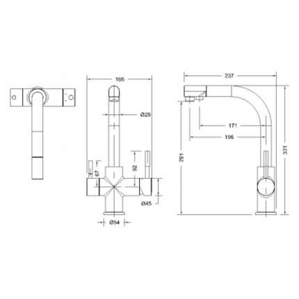Смеситель для кухонной мойки BRAVAT Palace F729261CP-RUS хром