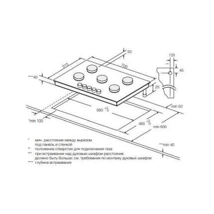 Встраиваемая газовая панель Graude GS 70.1 E Silver