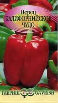 """Семена. Перец """"Калифорнийское чудо"""" (вес: 0,3 г)"""