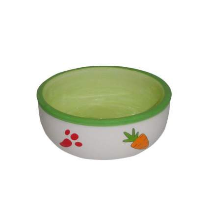 Одинарная миска для грызуны Foxie, керамика, зеленый, 0.17 л