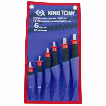 Набор KING TONY выколоток с протектором, чехол из теторона, 6 предметов 1006GRN