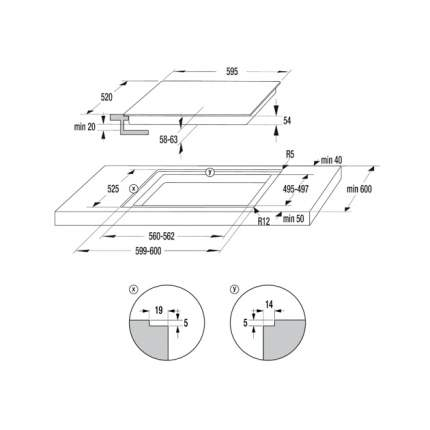 Встраиваемая электрическая панель Gorenje IT 640 WSC White