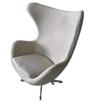 Кресло Bradex Home «EGG CHAIR» бежевый матовый с эффектом состаренная кожа /FR 0256