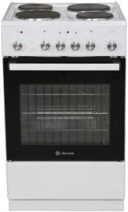 Электрическая плита DeLuxe 5004.18э White