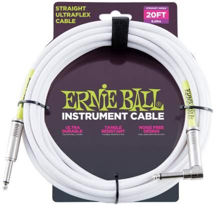 Кабель инструментальный Ernie Ball 6047  6 метров белый