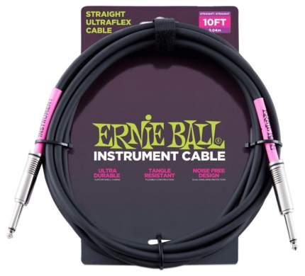 Кабель инструментальный Ernie Ball 6048 3м черный