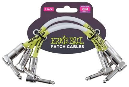 Набор кабелей инструментальныхErnie Ball 6051 с угловыми джеками