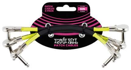 Набор кабелей инструментальных Ernie Ball 6059 с угловыми джеками