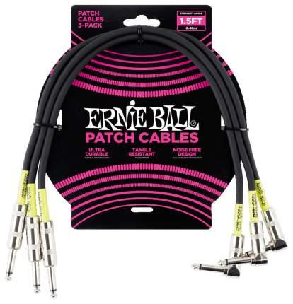 Набор инструментальных кабелей Ernie Ball 6076 46 см, 3 шт