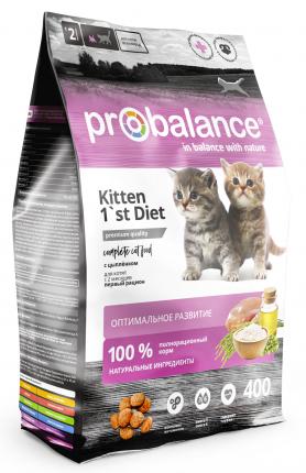 Сухой корм для котят Probalance 1'st Diet Kitten, 400 г