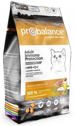 Сухой корм для кошек Probalance Immuno Protection, с курицей и индейкой, 1,8 кг