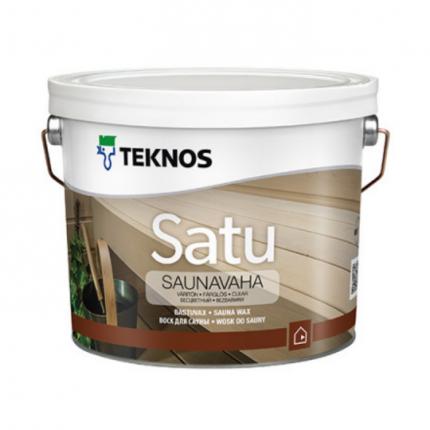 Защитный воск для деревянных стен и полков в сауне, бане Teknos Satu Saunavaha 2,7 л