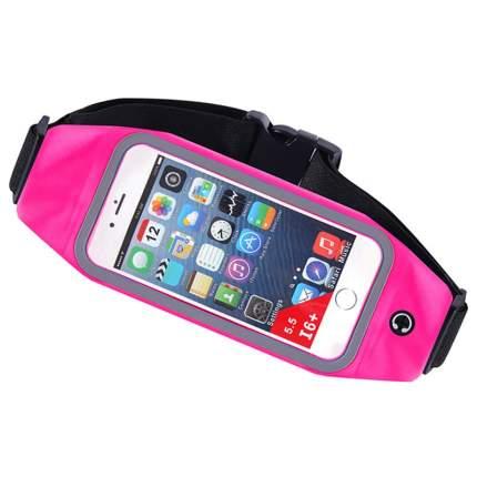 Спортивная сумка чехол на пояс для бега Baziator 7003 для мобильного телефона, розовая