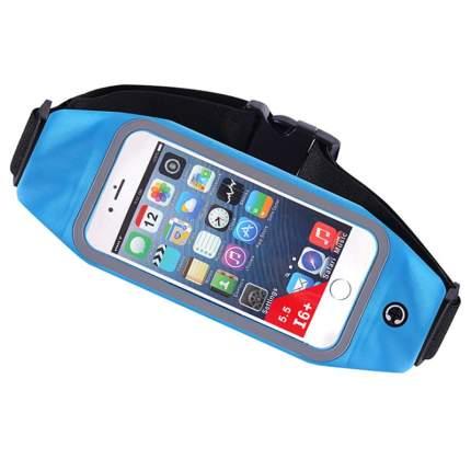 Спортивная сумка чехол на пояс для бега Baziator 7003 для мобильного телефона, голубая