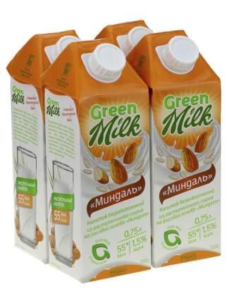 Напиток из растительного сырья Миндаль, 750 мл. 4шт., Green Milk