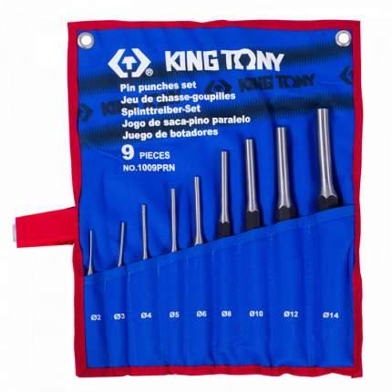KING TONY Набор выколоток, чехол из теторона, 9 предметов 1009PRN