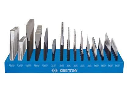 Стенд KING TONY с зубилами, кернерами, выколотками и бородками, 90 предметов 1090PR1