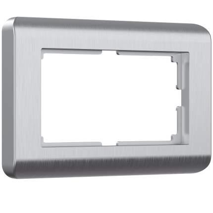 Рамка для двойной розетки (серебристый) Werkel W0082106